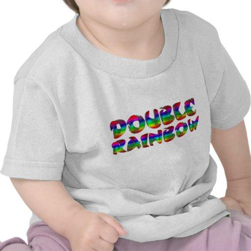 Double T-shirt de nourrisson d'arc-en-ciel