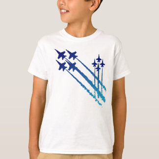 Double T-shirt d'enfants de diamants d'anges bleus