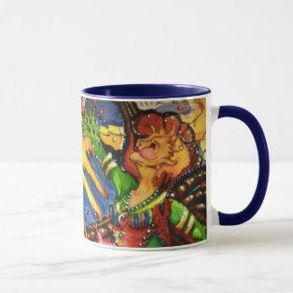 Double tasse de café féerique céleste
