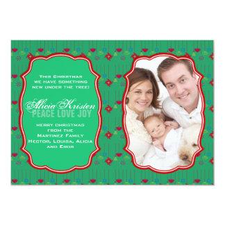 Doubles cadres - carte de vacances de photo carton d'invitation  12,7 cm x 17,78 cm