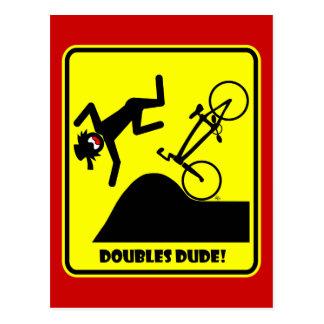 DOUBLES DUDE-41 CARTE POSTALE