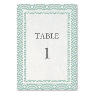 Doucement vert + Nombre blanc de Tableau de Seigha Carte