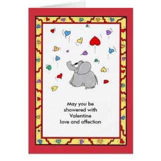 Douche d'affection - Valentine Cartes