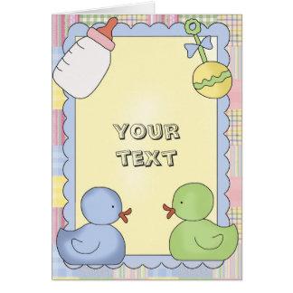 Douche de cartes de bébé, Congrats, Merci, nouveau
