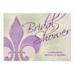 Douche de fantaisie de Purple Fleur de Lis Bridal Carton D'invitation 12,7 Cm X 17,78 Cm