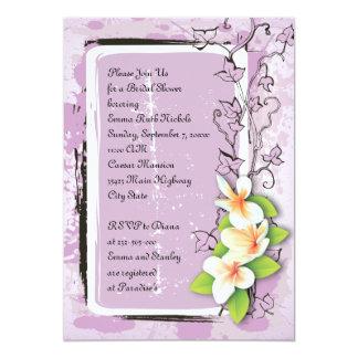Douche nuptiale blanche pourpre de lierre vintage carton d'invitation  12,7 cm x 17,78 cm