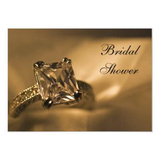 Douche nuptiale de bague de fiançailles de Diamond Carton D'invitation 12,7 Cm X 17,78 Cm