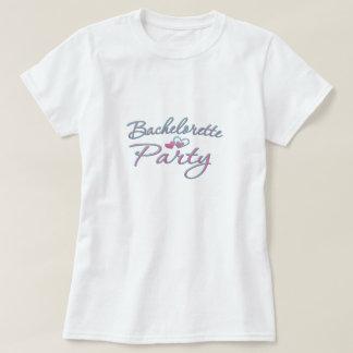 douche nuptiale de coeur de partie rose de t-shirt