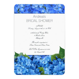 Douche nuptiale de jardin d'hortensia carton d'invitation  12,7 cm x 17,78 cm