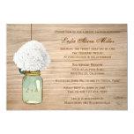 Douche nuptiale de maçon de pays d'hortensia cartons d'invitation