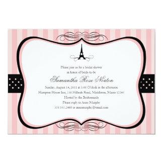 Douche nuptiale de Paris de Tour Eiffel Carton D'invitation 12,7 Cm X 17,78 Cm