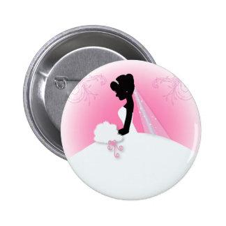 Douche nuptiale de silhouette élégante de jeune ma badge rond 5 cm