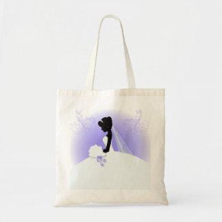douche nuptiale de silhouette vintage romantique sac fourre-tout