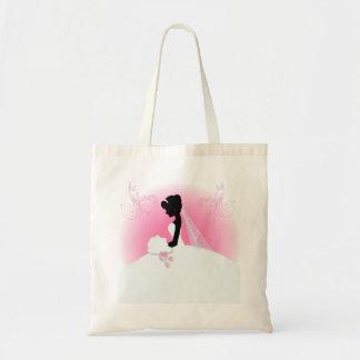 douche nuptiale de silhouette vintage romantique sacs de toile