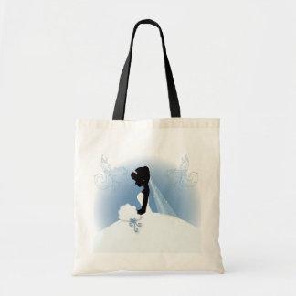 douche nuptiale de silhouette vintage romantique sacs en toile
