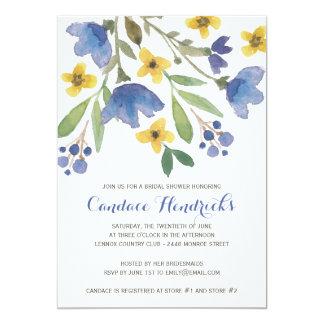 Douche nuptiale florale de l'aquarelle | invitations