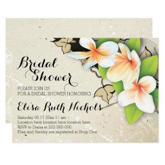 Douche nuptiale vintage de mariage beige de carton d'invitation  12,7 cm x 17,78 cm