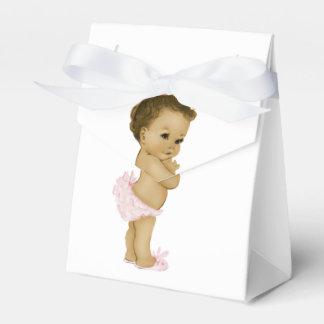 Douche rose de bébé d'Afro-américain Boites De Faveur