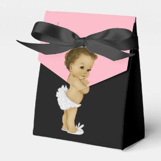 Douche rose de bébé de princesse Afro-américain Boite De Faveur