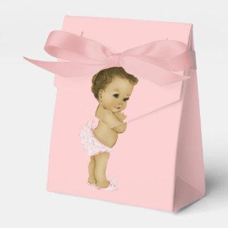 Douche rose de bébé de princesse Afro-américain Boites Faveurs De Mariage