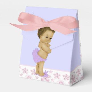 Douche rose et pourpre de bébé d'Afro-américain Ballotin Pour Dragées