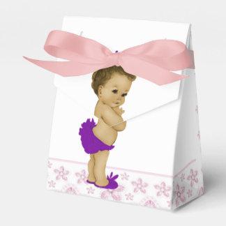 Douche rose et pourpre de bébé d'Afro-américain Boite De Faveur