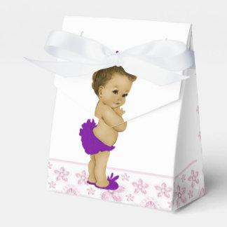 Douche rose et pourpre de bébé d'Afro-américain Boites Faveurs De Mariage