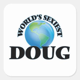 Doug le plus sexy du monde sticker carré