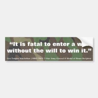 Douglas MacArthur il est mortel pour écrire une Autocollant De Voiture
