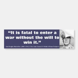 Douglas MacArthur il est mortel pour écrire une Autocollant Pour Voiture