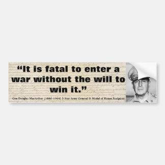 Douglas MacArthur il est mortel pour écrire une gu Adhésifs Pour Voiture