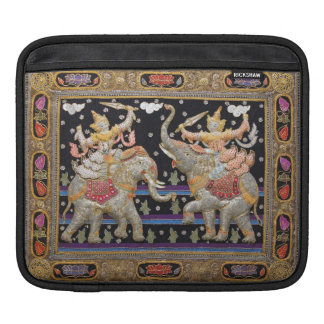 Douille birmanne d'iPad de tapisserie de guerriers Poches iPad