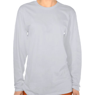 Douille blanche femelle saine de séjour longue t-shirt
