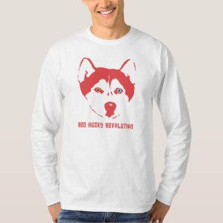 Douille blanche T de révolution enrouée rouge T-shirt