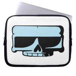 Douille bleue d ordinateur portable de crâne trousses pour ordinateur portable