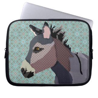 Douille bleue d'ordinateur de l'âne du gris trousses ordinateur