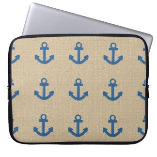 Douille bleue d'ordinateur portable d'ancre de toi housse ordinateur