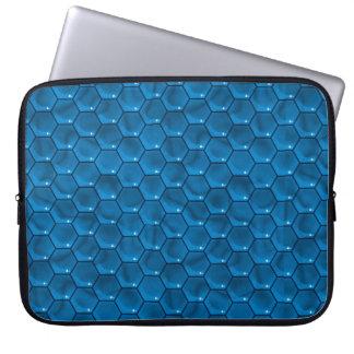 Douille bleue d'ordinateur portable de cube trousses pour ordinateur portable