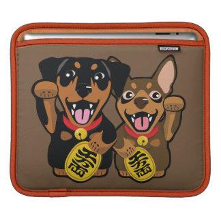 Douille chanceuse d'iPad de chien de Pin de minute Poches iPad