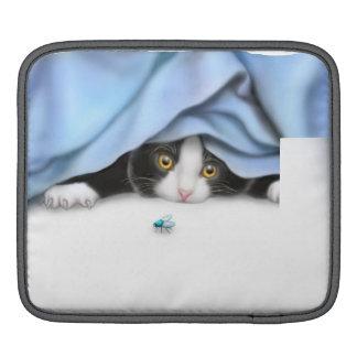 Douille curieuse d'iPad de Rickshaw de chaton Poches iPad