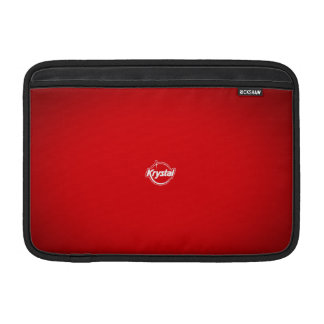 Douille d'air rouge de MacBook de logo de Krystal Poches Macbook