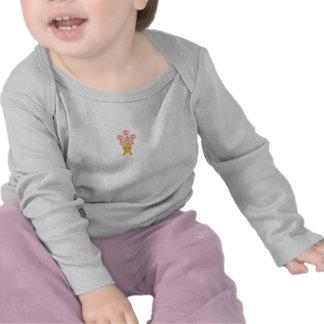 Douille de bébé de bouquet de mariage longue t-shirt