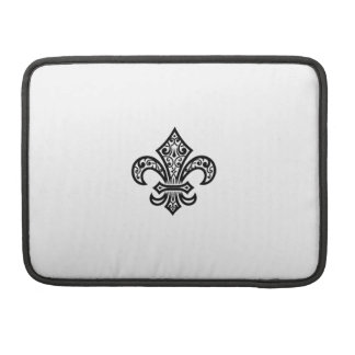 Douille de Black Fleur de Lis Laptop Poche Pour Macbook