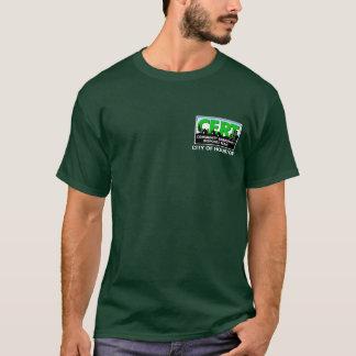 Douille de CERT de Houston longue (vert) T-shirt