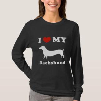 Douille de chemise de femmes de teckel t-shirt