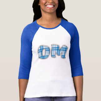 Douille de chemises de yoga de l'OM longue - plaid T-shirt