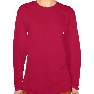 Douille de dames de drapeau du Portugal longue T-shirts