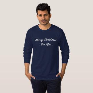 Douille de l'habillement des hommes longue - t-shirt