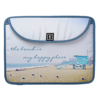 Douille de Macbook de photo de plage d'aqua Housses MacBook Pro