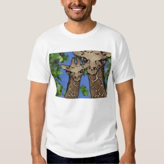 douille de short de famille de girafe t-shirts